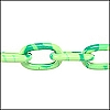 aluminum link chain LIME GREEN/TURQ per 25 feet