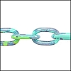 aluminum link chain DARK TURQ/GREEN per 25 feet