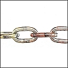 aluminum link chain METALIC: COPPER/TAN/GOLD per 25 feet