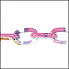 aluminum link chain WHITE/TURQ/HOT PINK per 25 feet