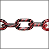 aluminum link chain RED/BLACK per 25 feet