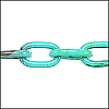 aluminum link chain TURQ/SEA GREEN per 25 feet