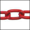 aluminum link chain RED per 25 feet (16mm link)