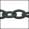 Polyester Chain DARK TEAL - per 3 ft strand