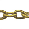 Polyester Chain GOLD - per 3 ft strand