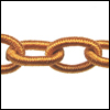 Polyester Chain HOT GOLD - per 3 ft strand