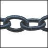 Polyester Chain NIGHT BLUE - per 3 ft strand
