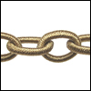 Polyester Chain CHAMPAGNE - per 3 ft strand