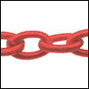 Polyester Chain RED - per 3 ft strand