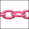 Polyester Chain HOT PINK - per 3 ft strand