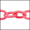 Polyester Chain PINK - per 3 ft strand