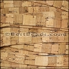 10mm flat STRIPED cork NATURAL - per 2 meters