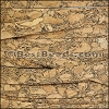 10mm flat MARBLED cork NATURAL - per 2 meters