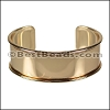 20mm Flat GLUE-IN CUFF Shiny Gold - per 5 pieces