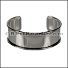 20mm Flat GLUE-IN CUFF Gunmetal - per 5 pieces