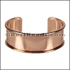 20mm Flat GLUE-IN CUFF Rose Gold - per 5 pieces