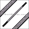Strassed Suede Bracelet Strip BLACK - per piece