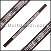 Strassed Suede Bracelet Strip DARK BROWN - per piece