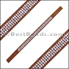 Strassed Suede Bracelet Strip MEDIUM BROWN - per piece