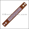 Strassed Suede Snap Bracelet MEDIUM BROWN - per piece