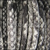 5mm Round Python leather per meter - Natural Grey