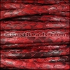 5mm Round Python leather per 10m SPOOL - Red