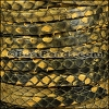 5mm flat PYTHON leather YELLOW - per 1 meter