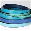 10mm Flat Leather Mixed Bundle OCEAN - 5 meters