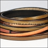 5mm Flat Leather Mixed Bundle DESERT GLOW - 5 meters