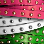 Studded Flat Leather<br>10mm