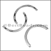 THIN CRESCENT magnetic clasp ANT SILVER - per 5 clasps
