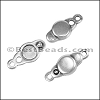 SMALL LOOP END magnetic clasp ANT SILVER - per 10 clasps
