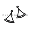 LASER CUT Leather JEWELRY COMPONENT Style 4 BLACK - per pair
