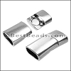 Regaliz® 4.5mm MAGNETIC clasp ANT. SILVER - per 10 clasps