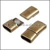 Regaliz® 4.5mm MAGNETIC clasp ANT. BRASS - per 10 clasps