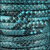 Mini Regaliz® PYTHON leather CYAN - per 10m SPOOL