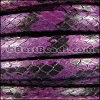 Mini Regaliz® PYTHON leather PURPLE - per 1 meter