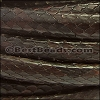 Mini Regaliz® PYTHON leather DARK BROWN - per 1 meter