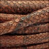 Mini Regaliz® PYTHON leather BROWN - per 1 meter