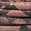 Mini Regaliz® PYTHON leather SALMON - per 1 meter