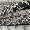 Mini Regaliz® PYTHON leather NATURAL GREY - per 1 meter