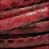 Mini Regaliz® PYTHON leather RED - per 1 meter