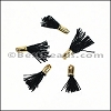 12mm GOLD : BLACK Tassel - per 10 pieces