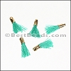 12mm GOLD : TEAL Tassel - per 10 pieces