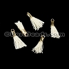 12mm GOLD : CREAM Tassel - per 10 pieces