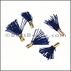 12mm GOLD : NAVY Tassel - per 10 pieces