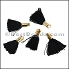 18mm GOLD : BLACK Tassel - per 10 pieces