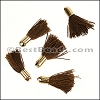 18mm GOLD : BROWN Tassel - per 10 pieces