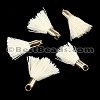18mm GOLD : CREAM Tassel - per 10 pieces