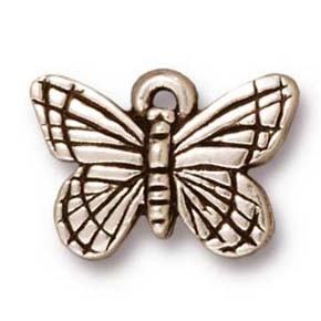 monarch butterfly charm ANTIQUE SILVER